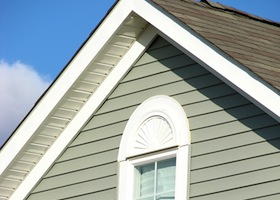Siding on a house