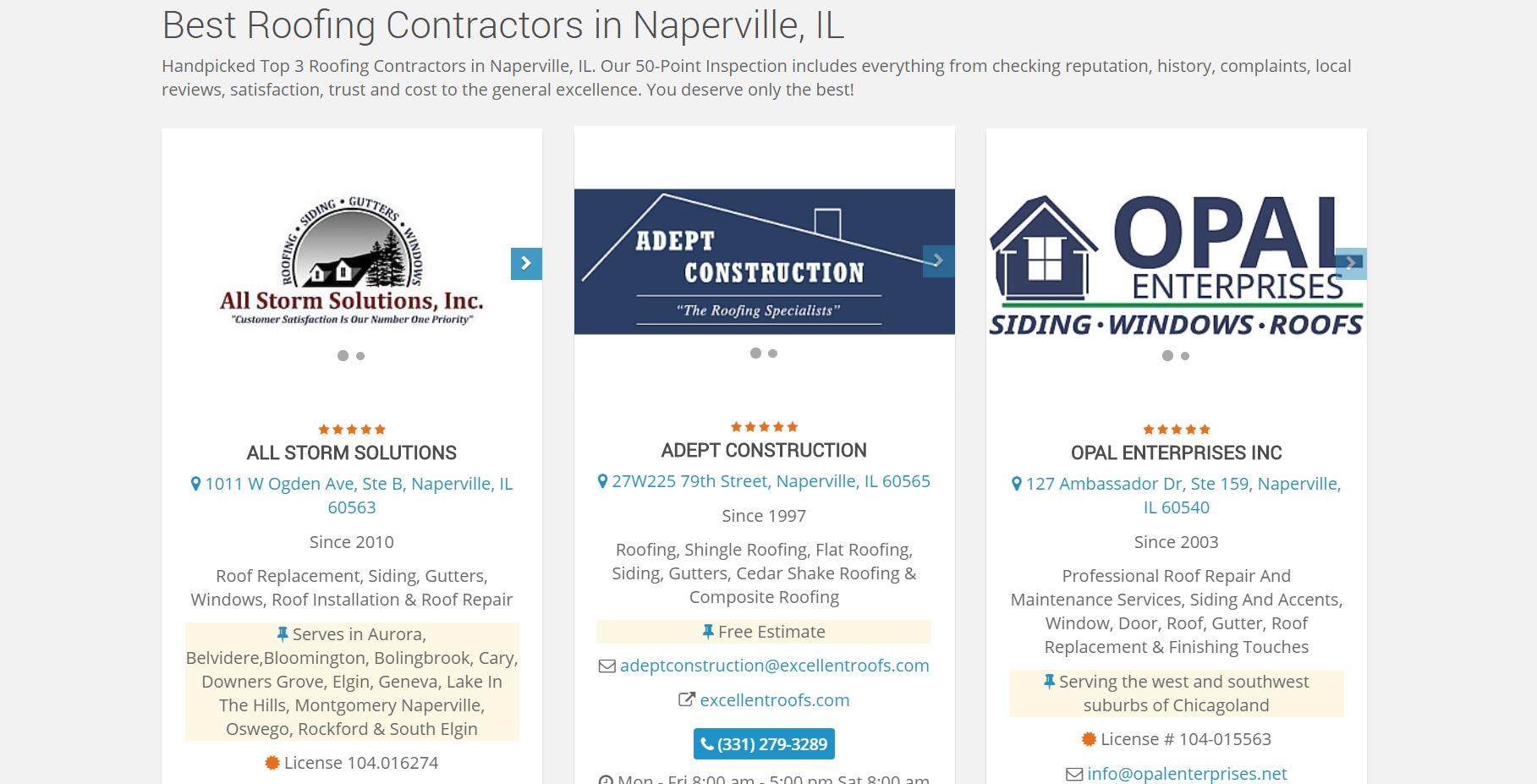 Best Roofing Contractors in Naperville